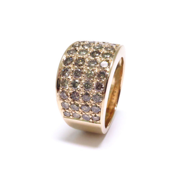 A BUNDA diamond Volc ring in 9ct rose gold, featuring pave set champagne and cognac round brilliant cut diamonds.  Characteristics of diamonds: 44 = 2.22ct.  Total weight: 9.32 grams.
