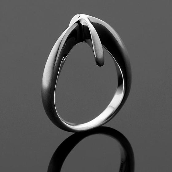 A BUNDA 'Till' Ring in Polished Finished Silver