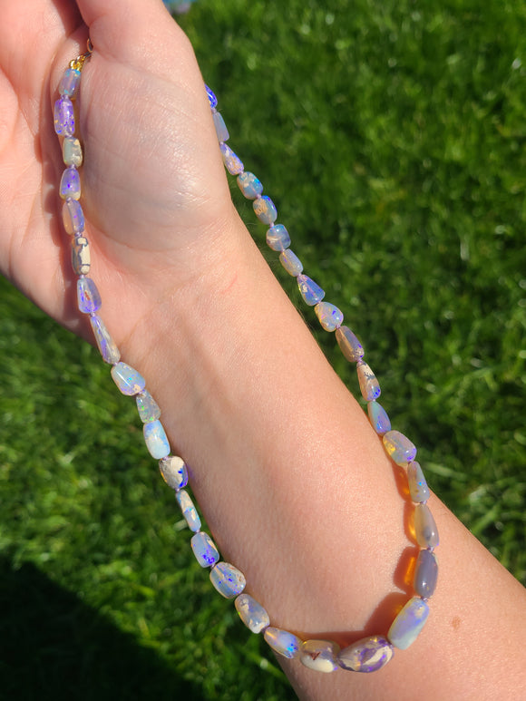 Lavender Love Black Opal Necklace