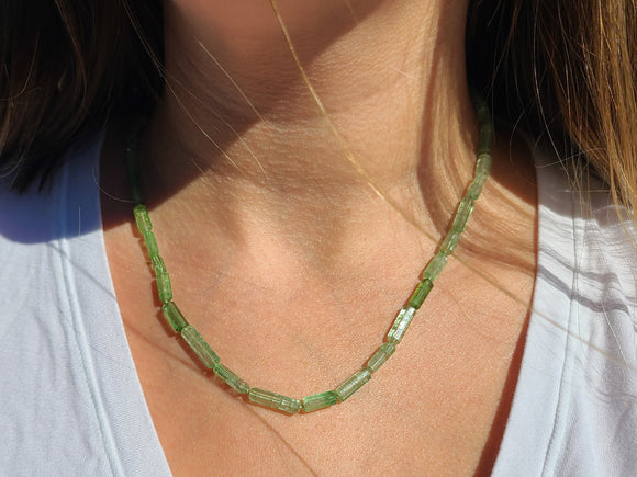 Green Tourmaline Handknotted Candy necklace