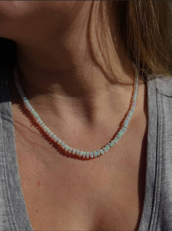 Beautiful Lambina Mine Australian Opal Candy Necklace