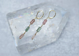 tourmaline earrings pink green