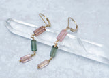 Watermelon Tourmaline Dangle Earrings