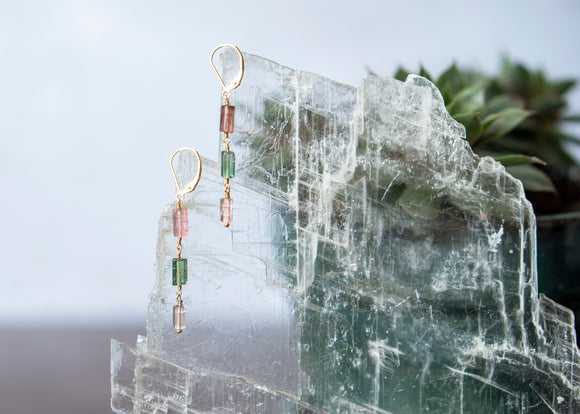 Tourmaline Dangle Earrings