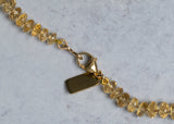 Beautiful faceted Citrine Candy Necklace