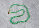Chrysoprase Handknotted Candy Necklace