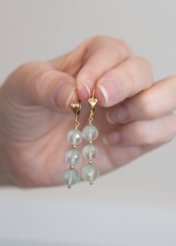 Prehnite Dangle Earrings