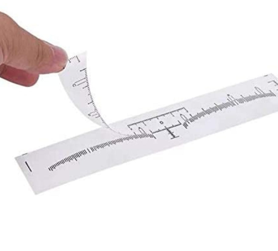 Disposable Self Sticking Brow Rulers 100pk