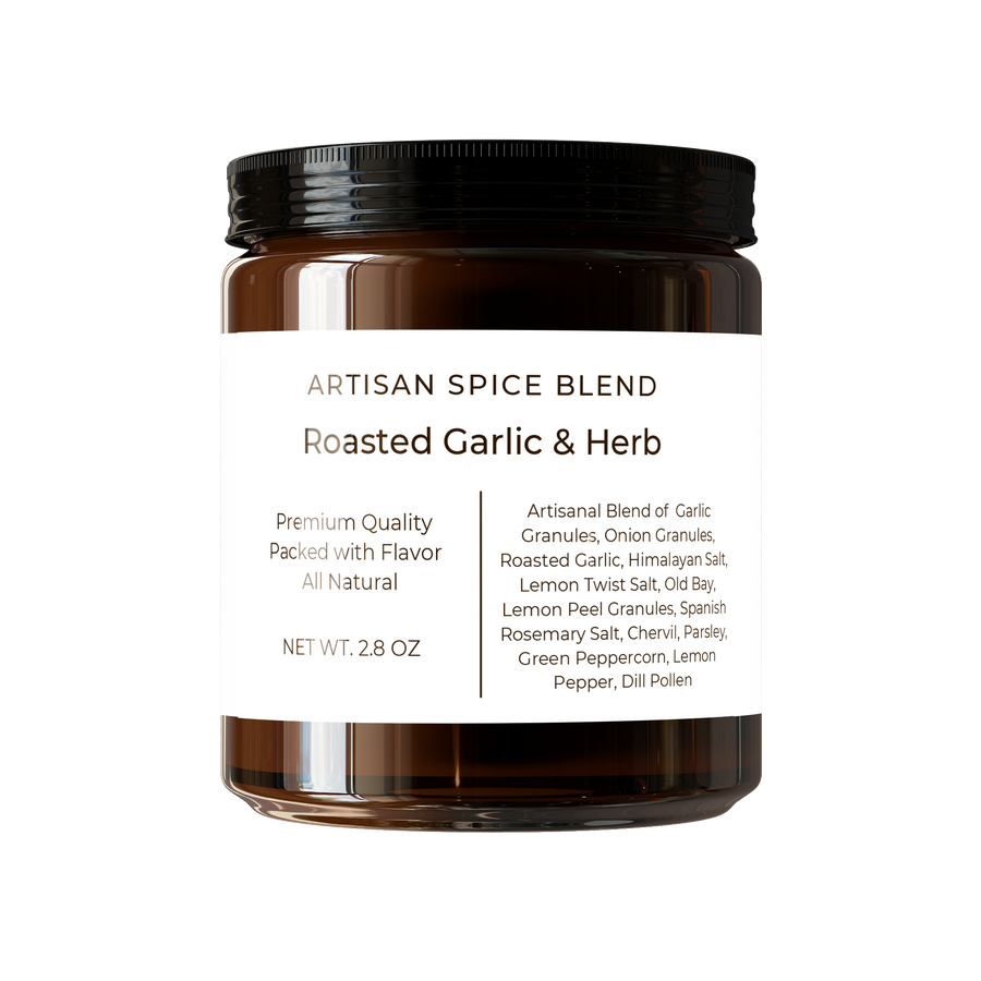 Roasted Garlic and Herb Spice Blend Reusable Jar