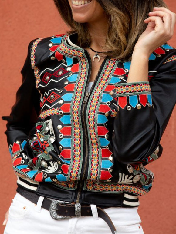 Casual Boho Style Jacket Outfit Outwear