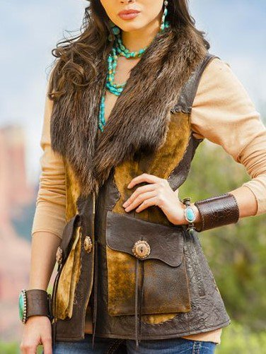 Boho Faux Leather Vest