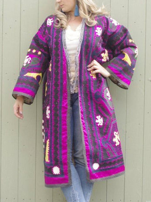 Plus Size Long Sleeve Statement Outerwear