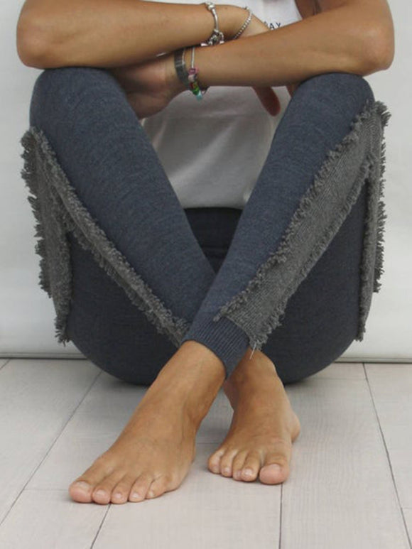 Knitted Stretch Mini Fringe Leggings
