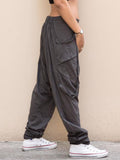 Casual Pockets Buttoned Women All Season Pants