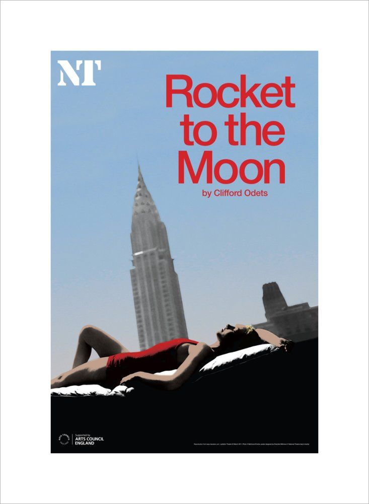 Rocket to the Moon Print