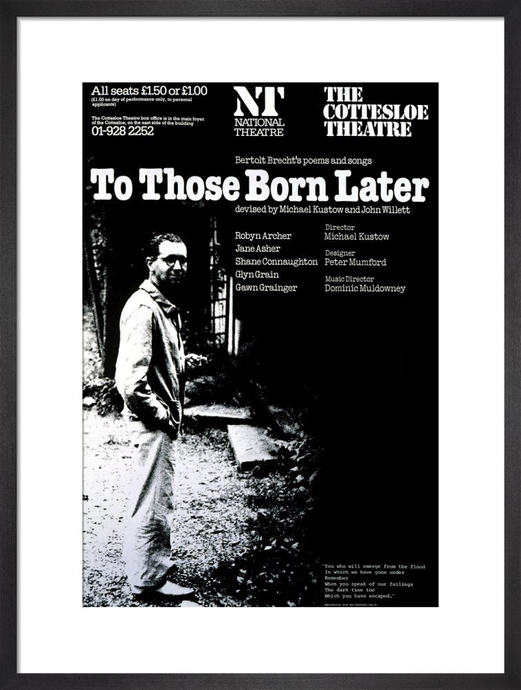 To Those Born Later Custom Print