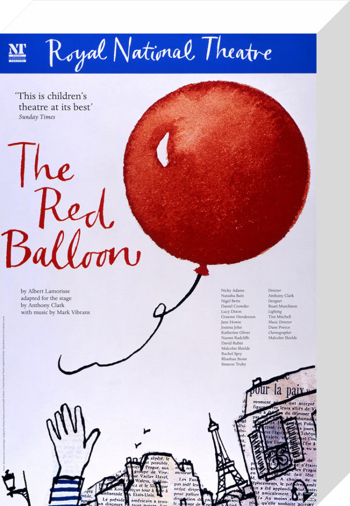 The Red Balloon Custom Print