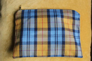 Yellow/ Blue Check Costume Bag