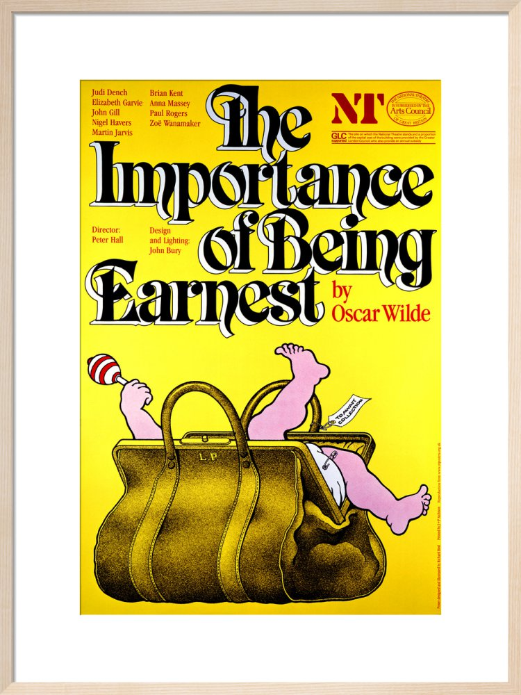 The Importance of Being Earnest Custom Print