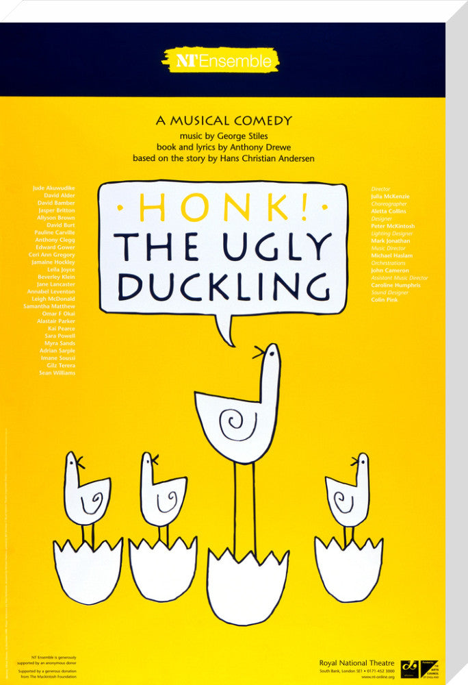 HONK! the Ugly Duckling Custom Print