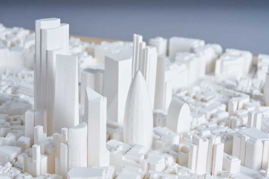 London Cityscape Architecture Model 1:2500