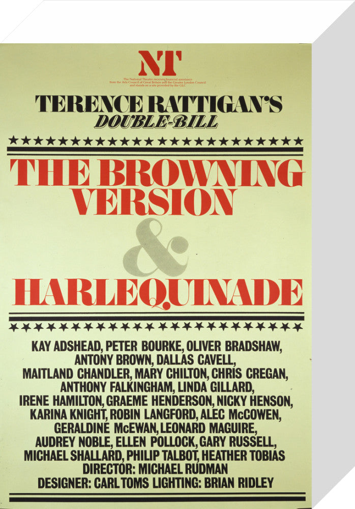 The Browning Version and Harlequinade Custom Print