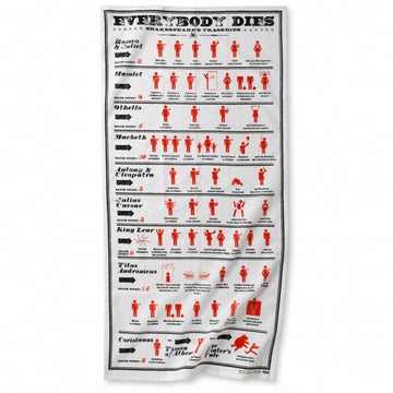 Everybody Dies in Shakespeare Tea Towel