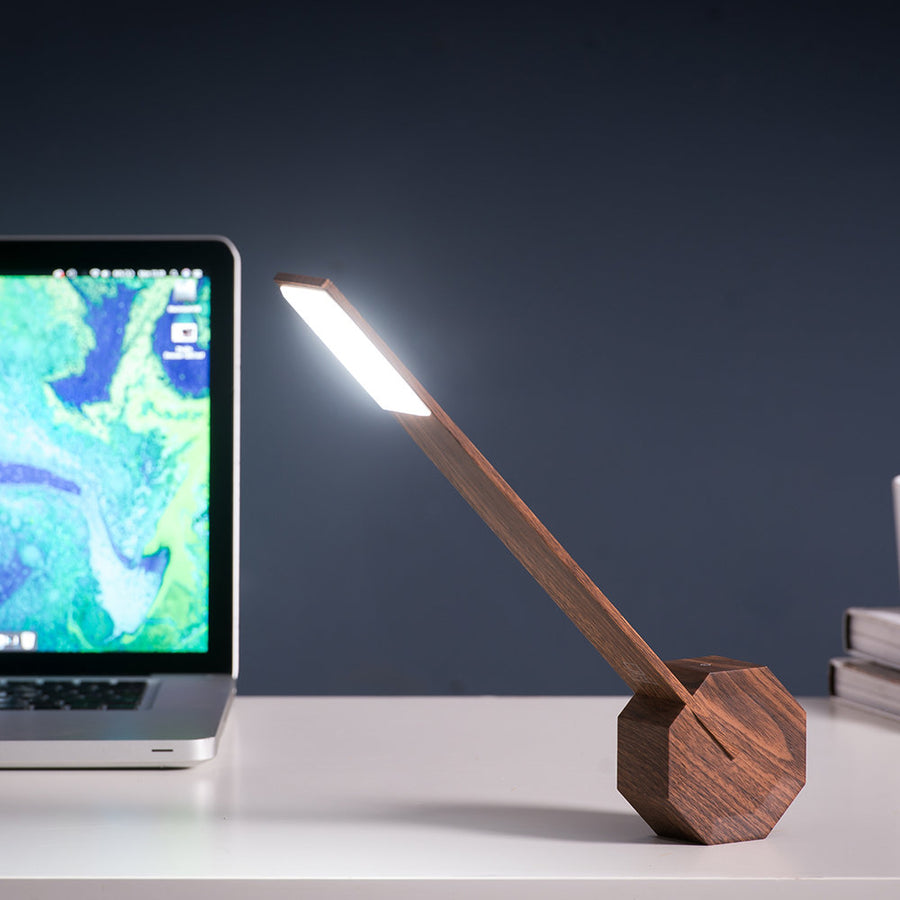 Octagon One Desk Light - Walnut