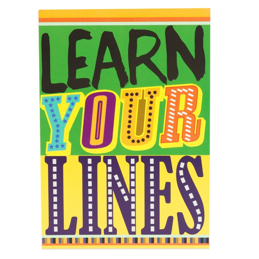 Learn Your Lines Greeting Card