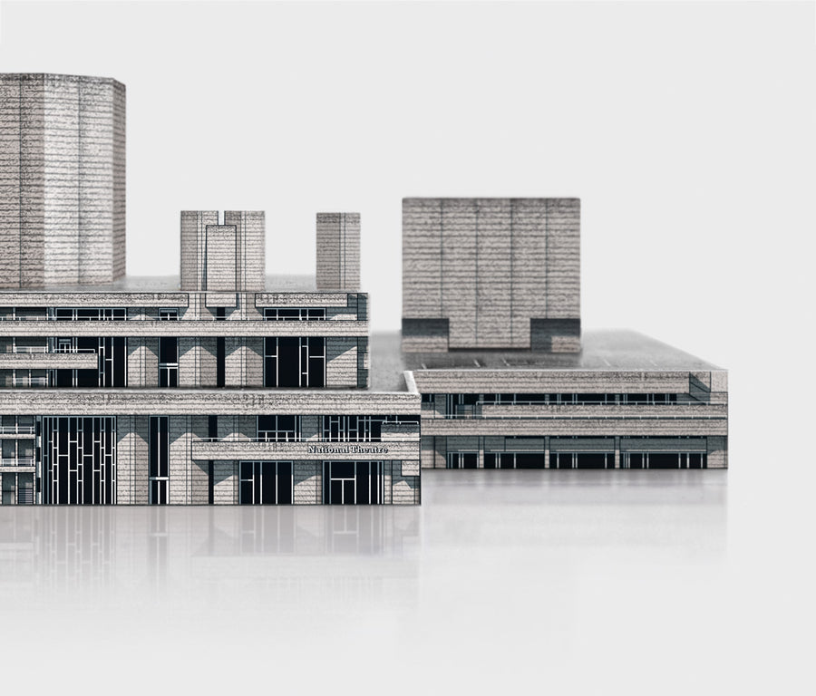 Brutal London: National Theatre Cut-Out Model