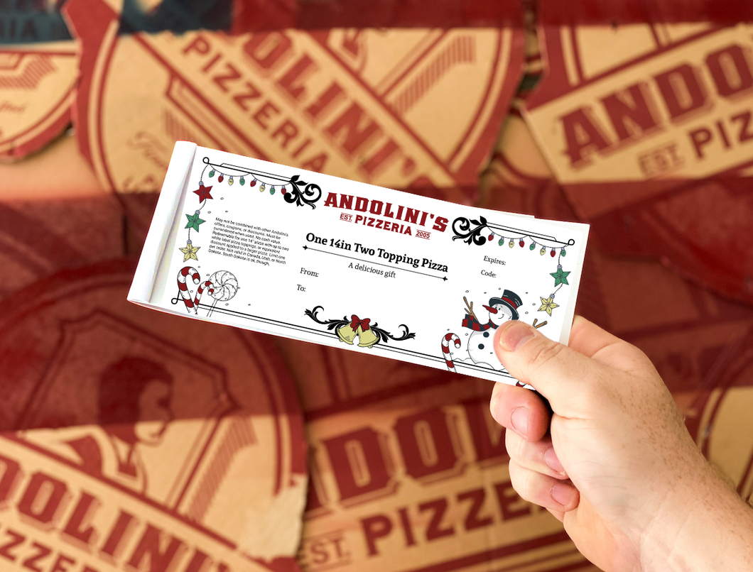 Andolini's Holiday Pizza Gift Book
