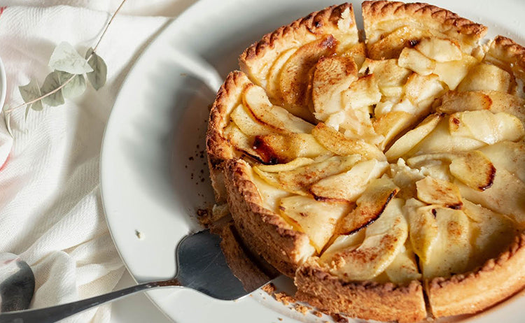 organic apple-honey tart