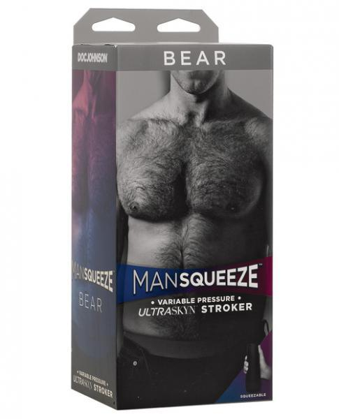 Man Squeeze Bear