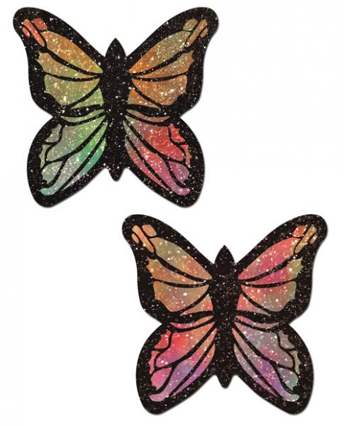 Rainbow Glitter Butterfly Pasties