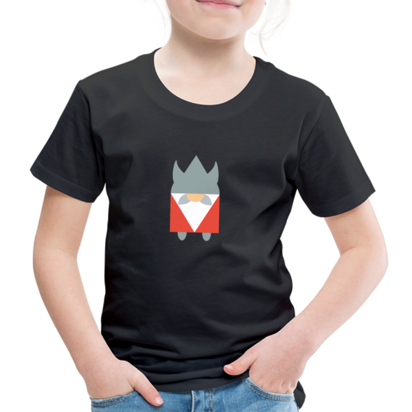 Kids' Premium T-Shirt VIKING - Schwarz