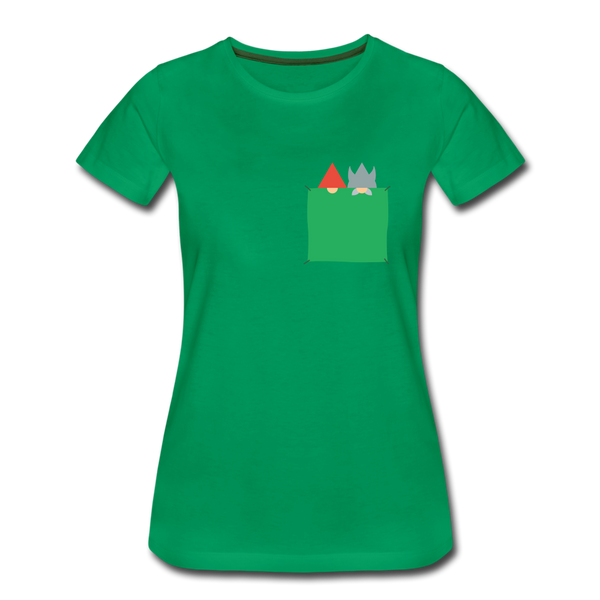 Damen Premium T-Shirt VIKING & TOMTE (versteckt) - Kelly Green
