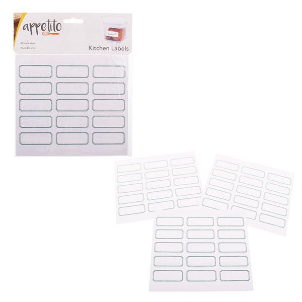 APPETITO BLANK LABELS PACK 45