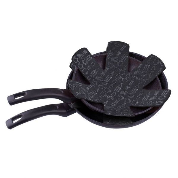 APPETITO POT & PAN PROTECTORS SET 2 - CHARCOAL GREY