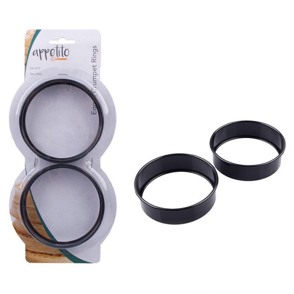 APPETITO NON-STICK EGG/CRUMPET RINGS SET 2