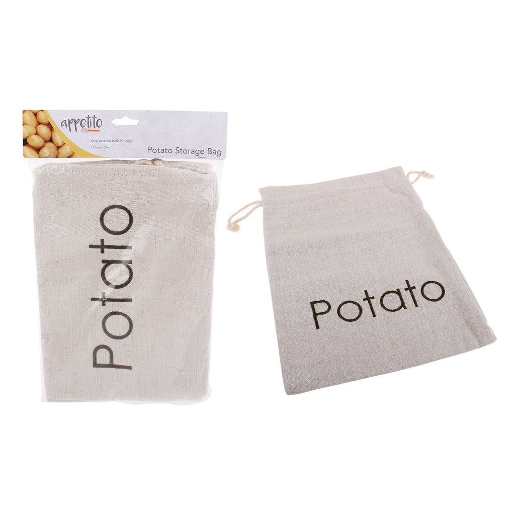Appetito embroided potato bag 27.5 x 39cm