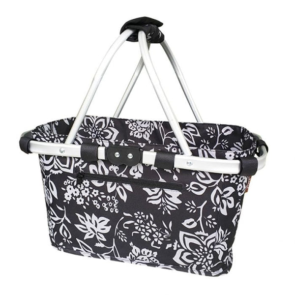 SACHI TWO HANDLE CARRY BASKET - CAMELLIA BLACK