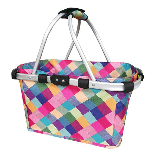 SACHI TWO HANDLE CARRY BASKET - HARLEQUIN