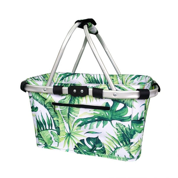 SACHI TWO HANDLE CARRY BASKET - JUNGLE LEAF