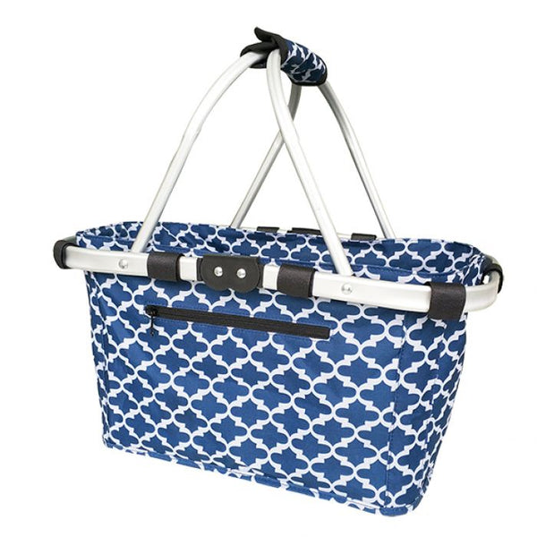SACHI TWO HANDLE CARRY BASKET - MOROCCAN NAVY