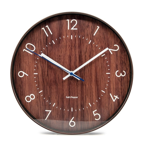 BAILEY Clock - 31cm - Dark Brown