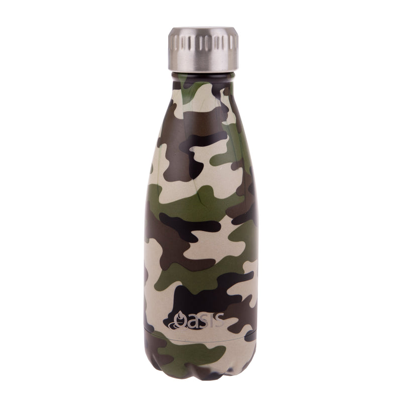 Oasis 350ml patterned stainless steel insulated drink bottle