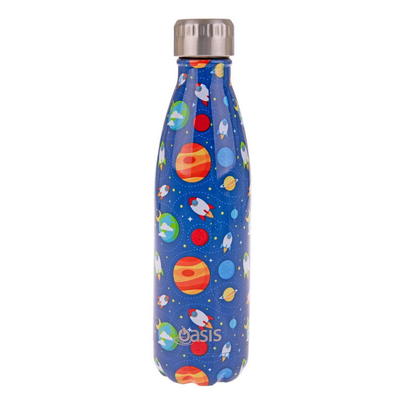 Oasis 500ml patterned stainless steel insulated drink bottle