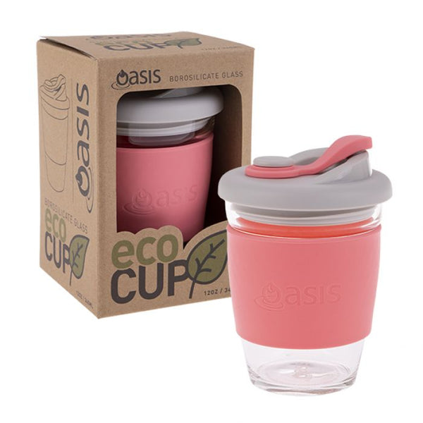 "OASIS BOROSILICATE GLASS ""ECO CUP"" 12OZ/340ML"