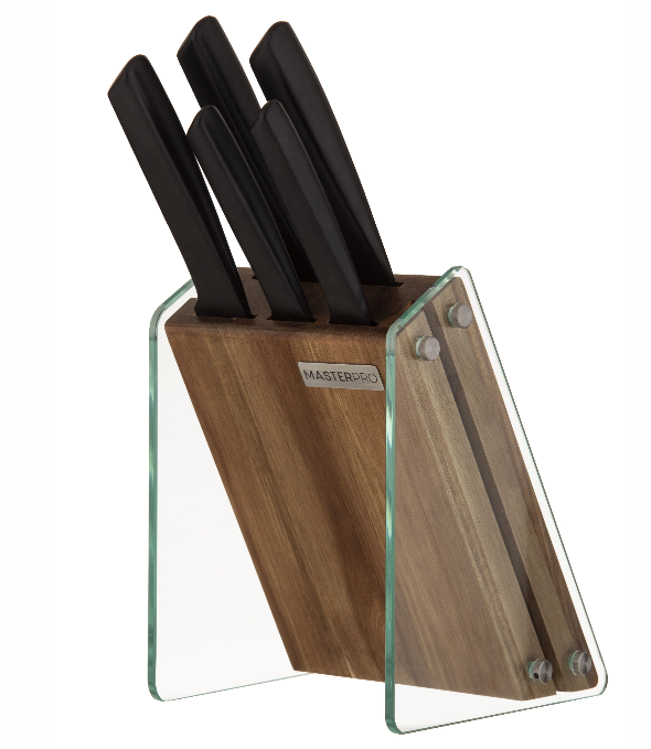 MasterPro Onyx Knife Block Set 6pce