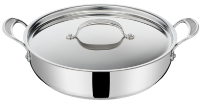 Jamie Oliver by Tefal Cooks Classic Induction Non-Stick Stainless Steel Shallowpan 30cm + lid